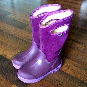 Bogs little girls size 13 boots muck purple